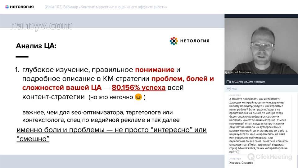 Уроки Алексея Тимофеева по контент-маркетингу