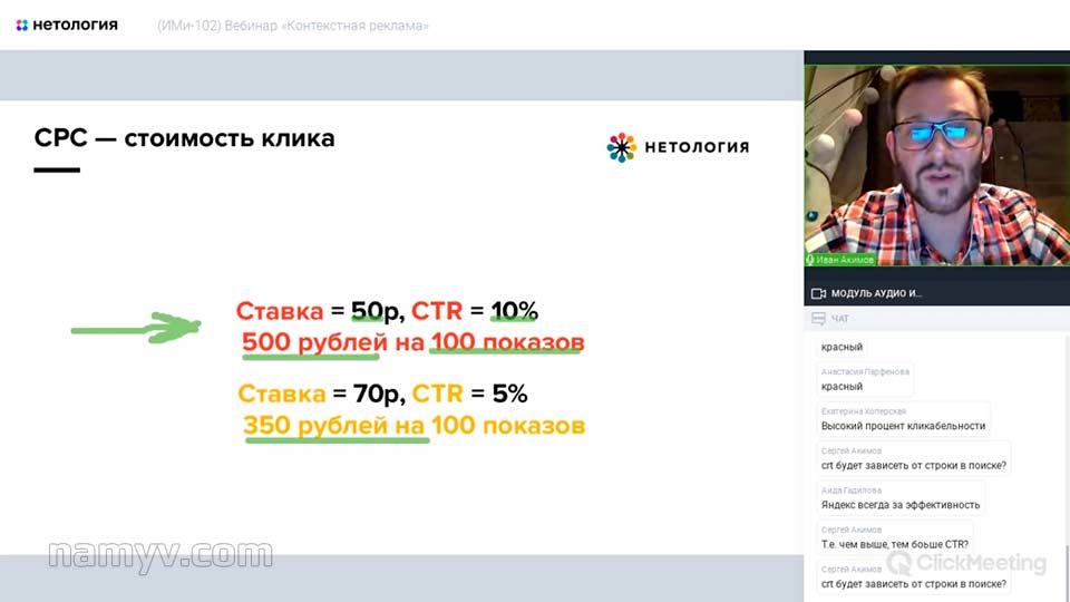 Уроки контекстной рекламы с Иваном Акимовым